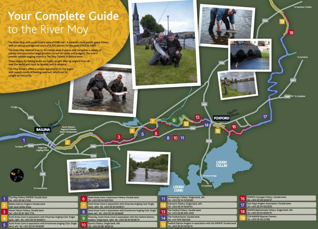 River Moy Map and Guide